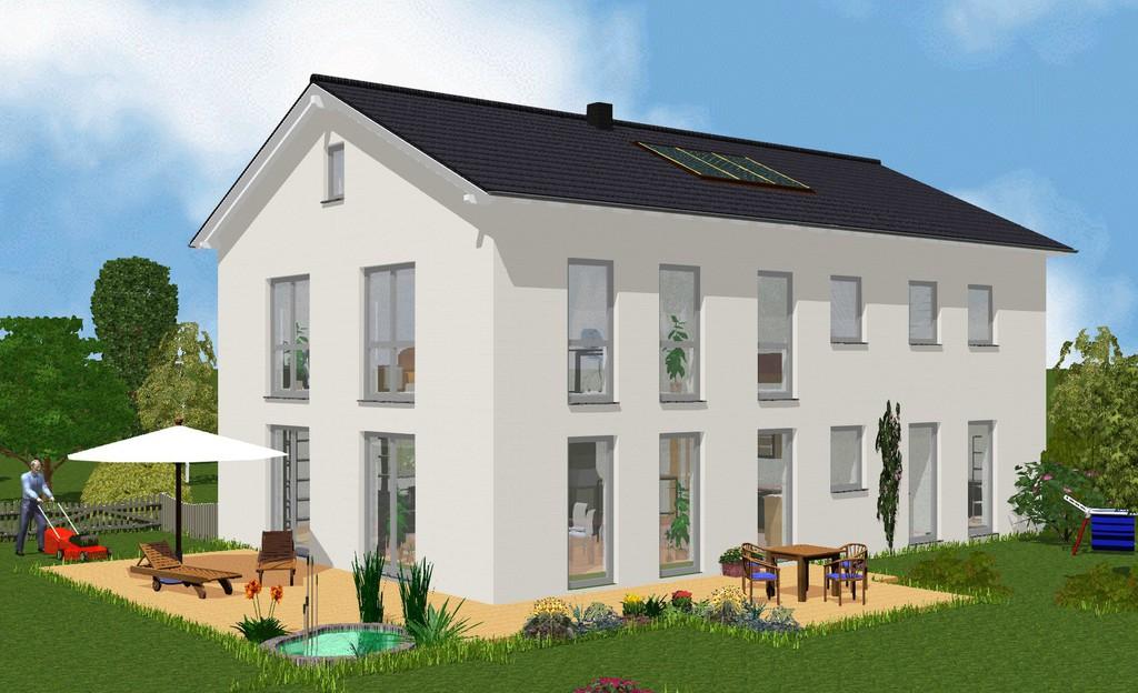 novum massivhaus zwei vollgeschosse satteldach. Black Bedroom Furniture Sets. Home Design Ideas
