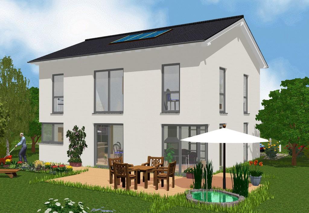 Novum massivhaus zwei vollgeschosse satteldach for Grundriss einfamilienhaus 2 vollgeschosse